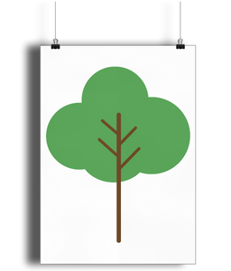 A3 Nursery Poster - Unframed - Cloud Tree