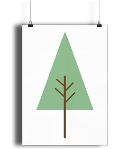 A3 Nursery Poster - Unframed - Evergreen Tree