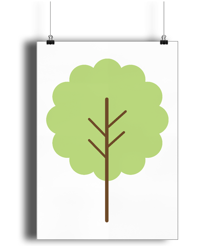 A3 Nursery Poster - Unframed - Spring Tree