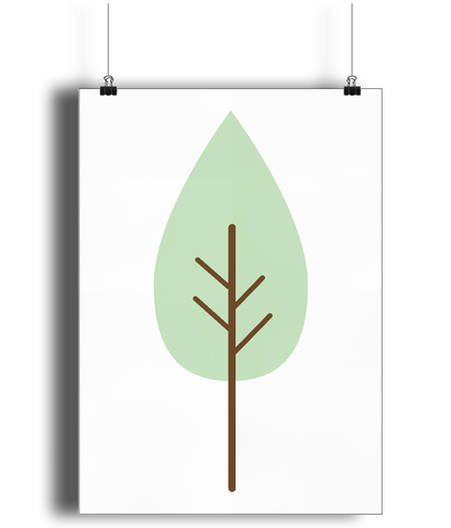 A3 Nursery Poster - Unframed - Manicured Tree