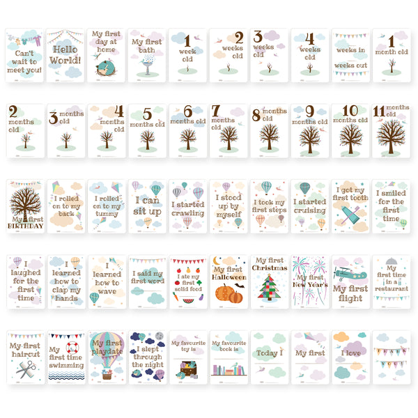 Baby Milestone Cards - Nested Fox