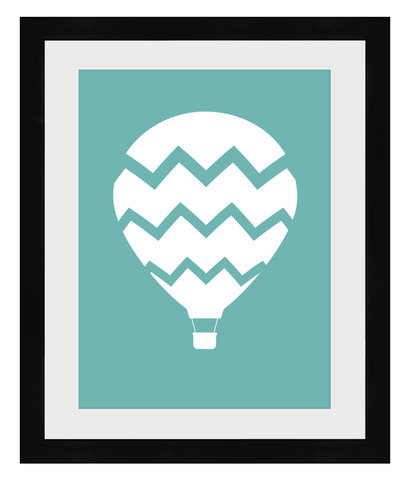 A3 Hot Air Balloon Print - Framed