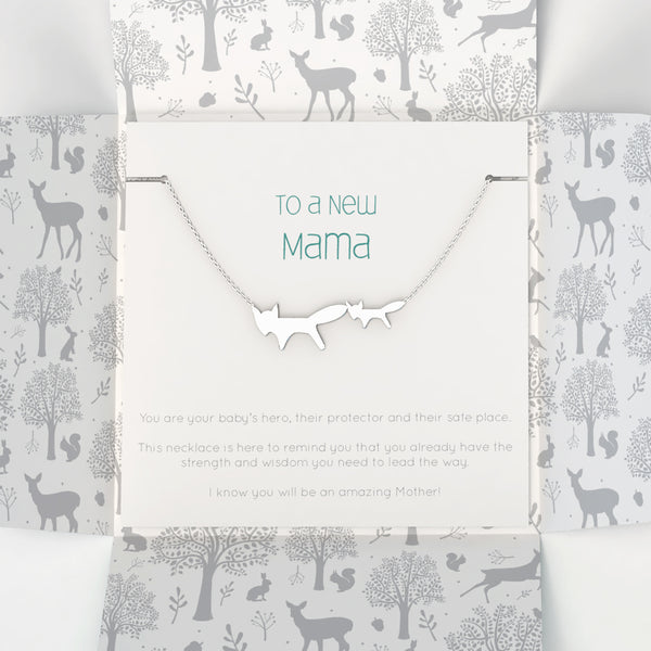 New Mama Necklace - Nested Fox