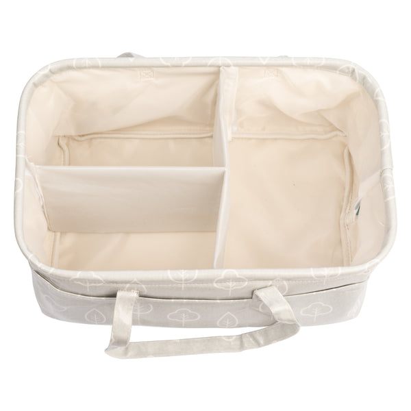 Waterproof & Wipeable Nappy Caddy - Grey Trees Print - Nested Fox