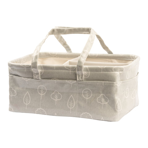 Waterproof & Wipeable Nappy Caddy - Trees Print - Nested Fox