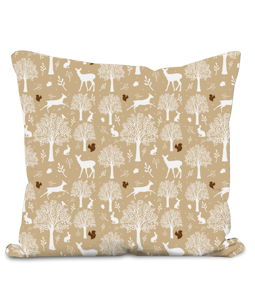 Nursery Throw Cushion - Woodland Friends - Various Colours Available - Nested Fox