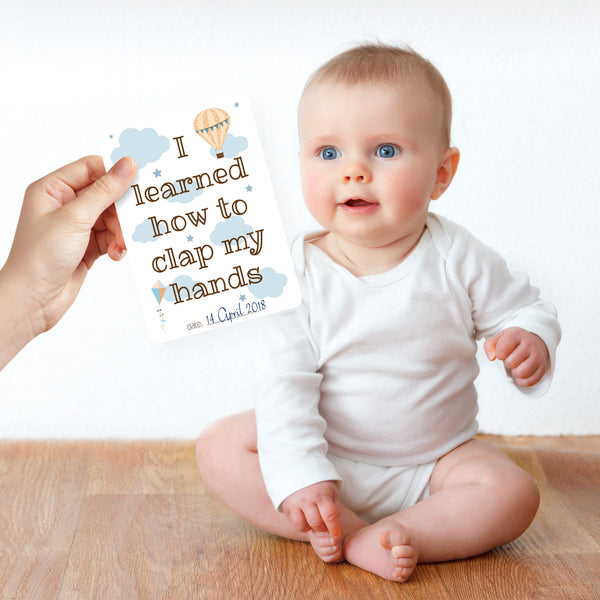 First Year Baby Moment Cards - Nested Fox