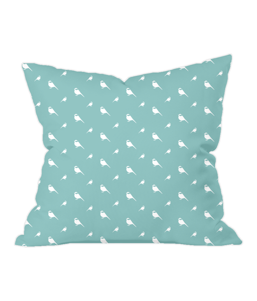 Nursery Throw Cushion - Chickadees - Various Colours Available - Nested Fox