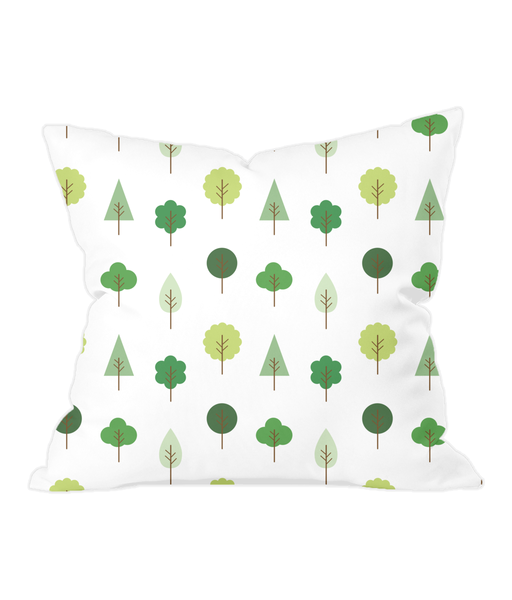 Nursery Throw Cushion - Trees - Various Colours Available - Nested Fox
