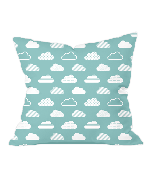 Nursery Throw Cushion - Patterned Clouds - Various Colours Available - Nested Fox