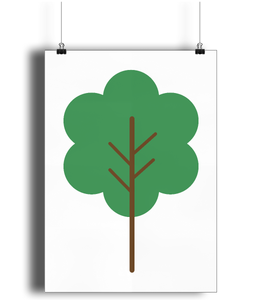 A3 Nursery Poster - Unframed - Bushy Tree
