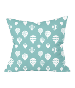 Nursery Throw Cushion - Hot Air Balloons - Various Colours Available - Nested Fox