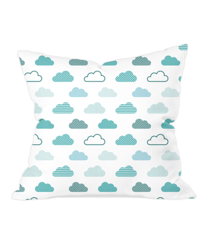 Nursery Throw Cushion - Patterned Clouds - Various Colours Available