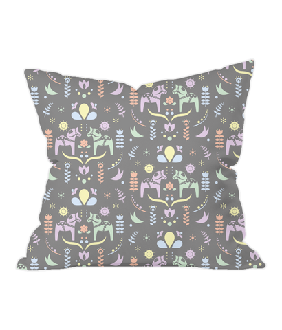 Nursery Throw Cushion - Swedish Horses - Various Colours Available