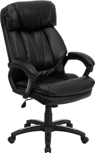 Nicer Furniture - Hercules Series High Back Black Leather Executive Office Chair