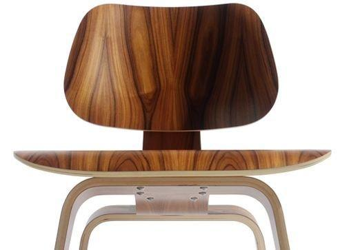 Modern inspired LCW Modern Lounge Chair Side Chair in Walnut