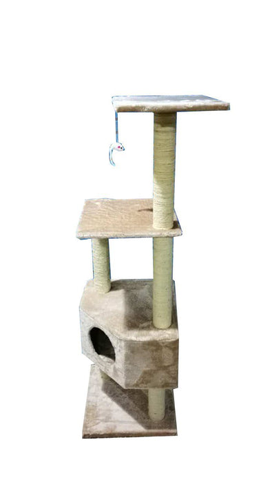 "iPet 51"" Inch Cat Tree Condo Scratching Post Beige"