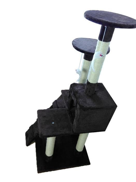 Cat Tree Furniture Condo Scratching Post - Cat Furniture Pet House Brown - iPet