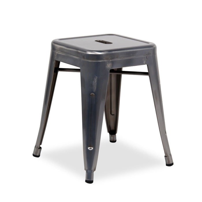 "OCC Industrial Backless Metal Industrial Stool 18"" High - Galvanized (Set of 4)"