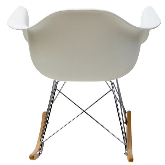 Modern Style Molded Plastic Armchair - Matte Finish in White