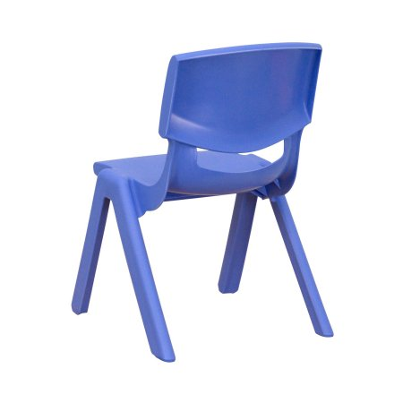 Nicer Furniture - Flash Furniture Blue Plastic Stackable School Chair with 10.5'' Seat Height, 8/Box
