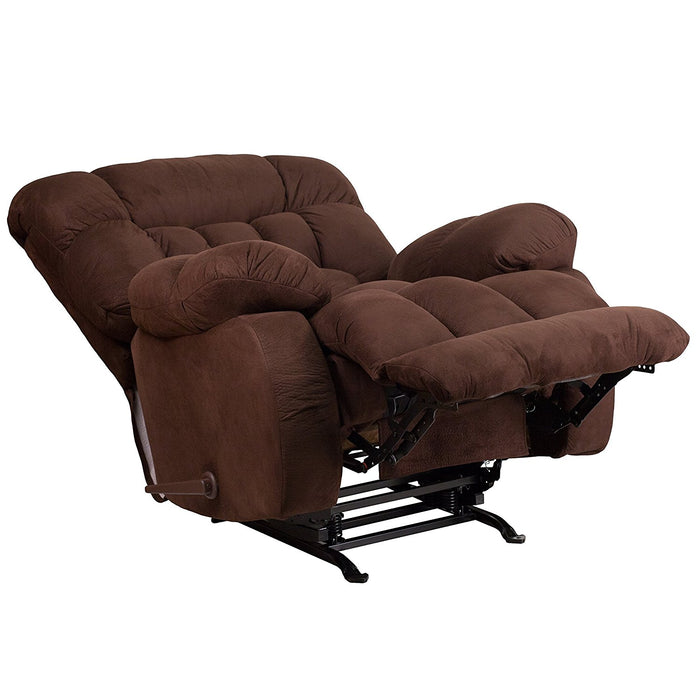 Nicer Furniture - Flash Furniture Contemporary Soft suede Fudge Microfiber Rocker/Recliner