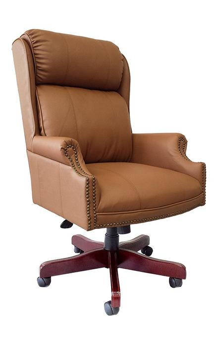 OCC Traditional High Back Pillow Back Executive Chair Brown Leather - Brown