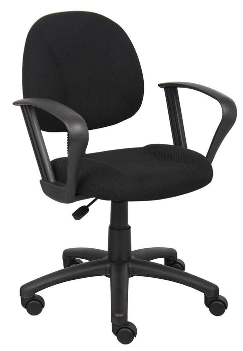 Ergonomic-Chairs-and-Computer-Chairs  sc 1 st  Nicer Interior & OCC Posture Task Chair Black Computer Desk Chair Loop Arms u2014 Nicer ...