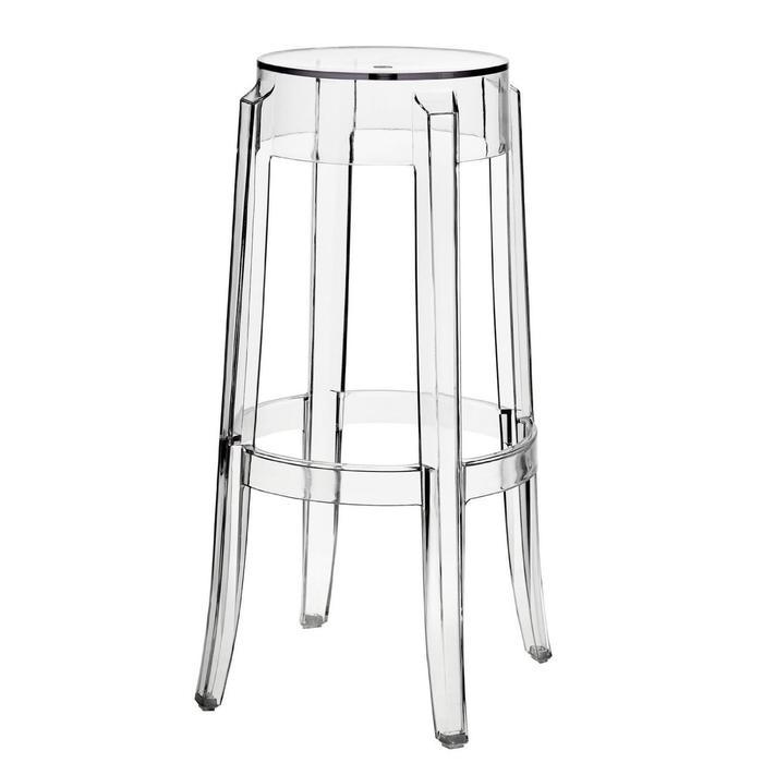 Transparent Stool in Transparent Crystal Counter Height Clear Counter Stool