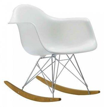 Modern Plastic Armchair - Rocking Mid Century Style Lounge Cradle Arm Chair