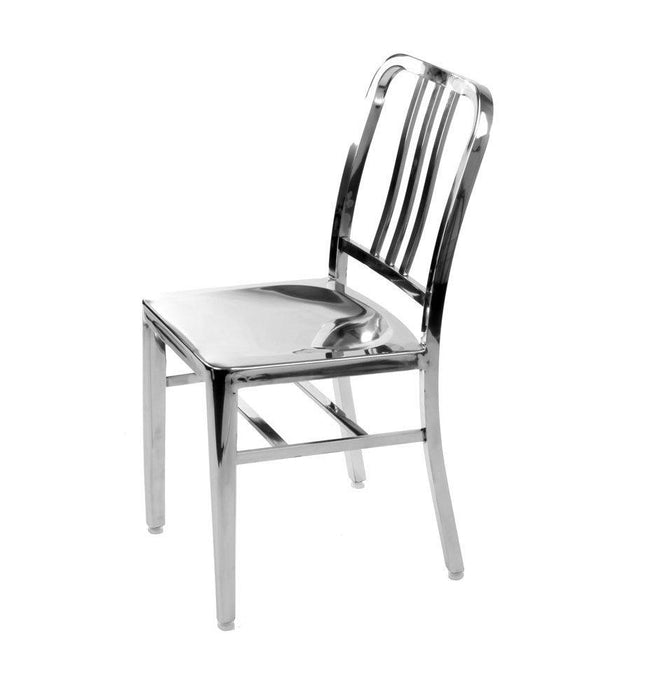 Stainless Steel Modern Salem Side Dining Chair   Cafe Chair (Set Of 2)