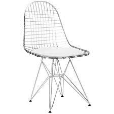 White Modern Wire Chairs (Set of 4)