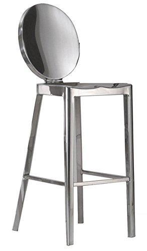 OCC Armless Side Chair-Polished Stainless Steel (Set of 2)