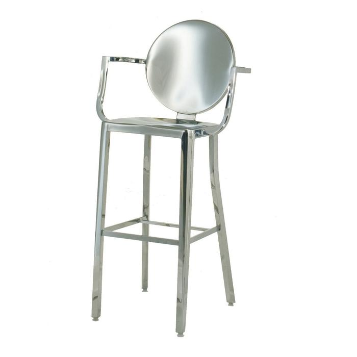 OCC - Bar Stool 30-Inch with arms Arm Chair - Stainless Steel (Set of 2)