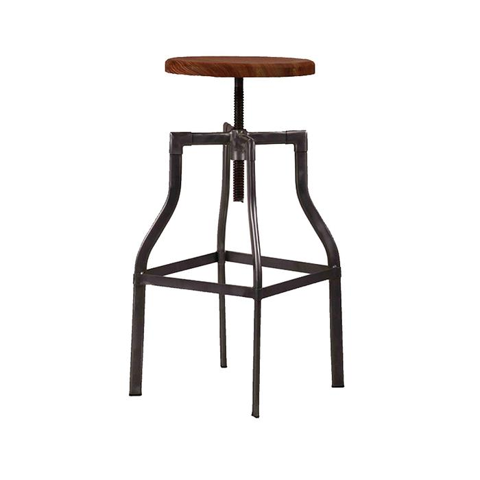 Nicer Furniture ® Carolina Bar Stool with Wooden Seat