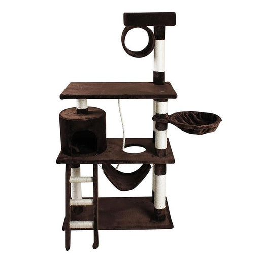 "iPet 56"" Cat Tree Condo Cat Furniture Scratching Post Pet House Brown"