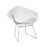 Nicer Furniture Diamond Lounge Chair- Chromed Steel Wire Frame in White
