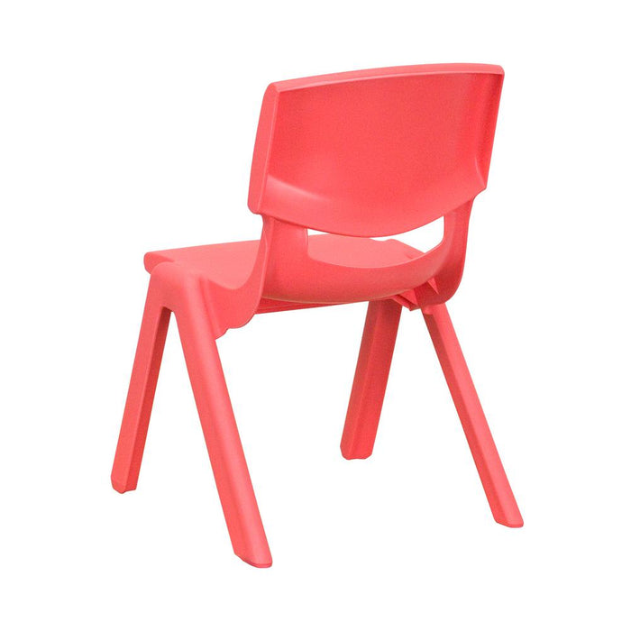 Nicer Furniture - Flash Furniture Red Plastic Stackable School Chair with 10.5'' Seat Height, 8/Box