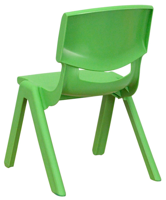 Nicer Furniture - Flash Furniture Green Plastic Stackable School Chair with 10.5'' Seat Height, 8/Box