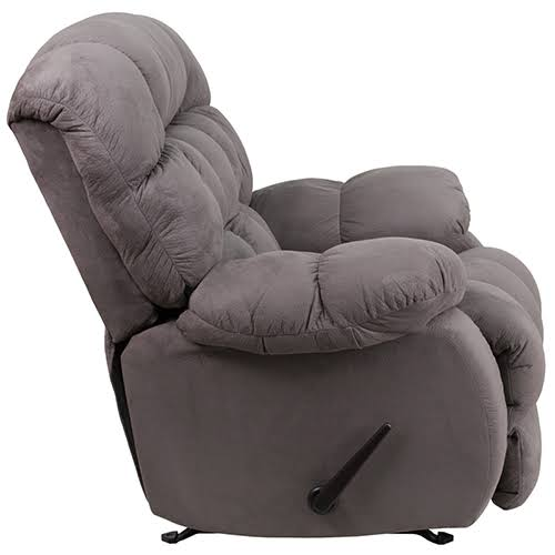 Nicer Furniture - Flash Furniture Contemporary Soft suede Graphite (Grey) Microfiber Rocker/Recliner