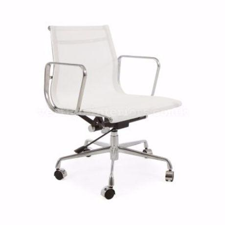 Eames White Modern Executive Office Chair Tilt Adjustable Seat - High Back Mesh