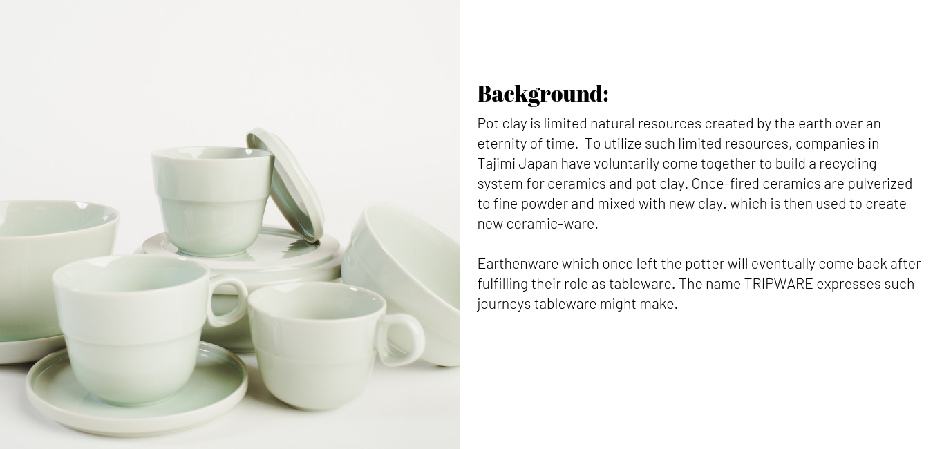 Sikura Tripware Kitchenware that comes from recycled pottery