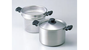 Sori Yanagi Stainless Pasta Pot - Light & Durable - Matte Finish - Made in Japan - Dishwasher Safe