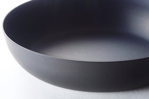 "Sori Yanagi Carbon Steel Pan Magma Plate 7.08"" with Lid"