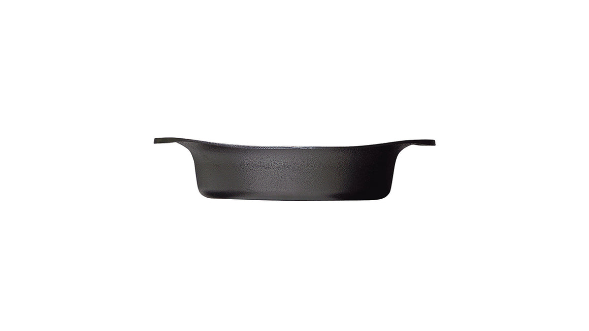 Sori Yanagi Cast Iron Shallow Pot with Lid & Handle - heavyweight Nambu Tekki cast iron pot has great heat retention and high durability - Made in Japan