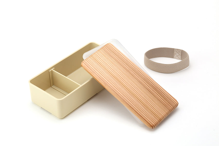 Wooden-Lid Bento Box Square SG