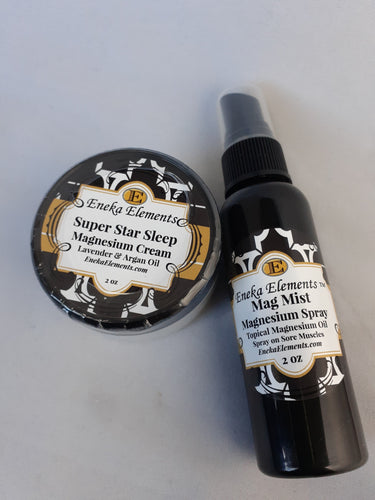 Super Star Sleep Magnesium Cream and Mag Mist Magnesium Spray By Eneka Elements