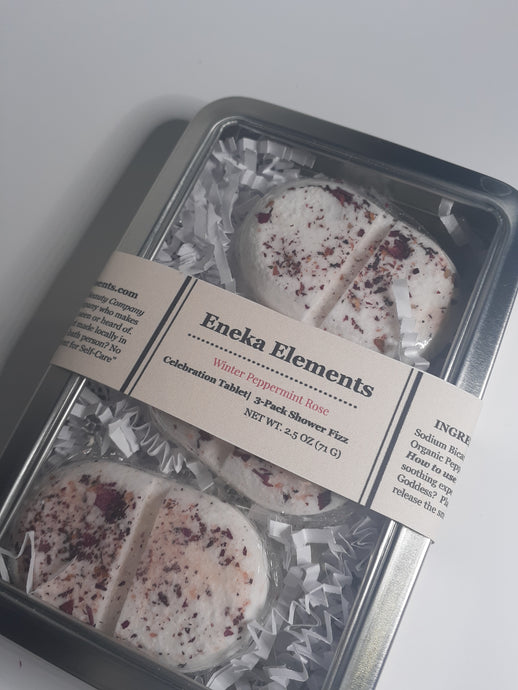 Shower Celebration Tablets | Winter Peppermint Rose by Eneka Elements