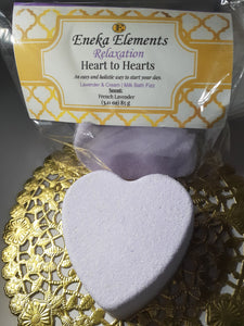 Heart to Hearts | Lavender & Cream Bath Fizz Hearts | Relaxation