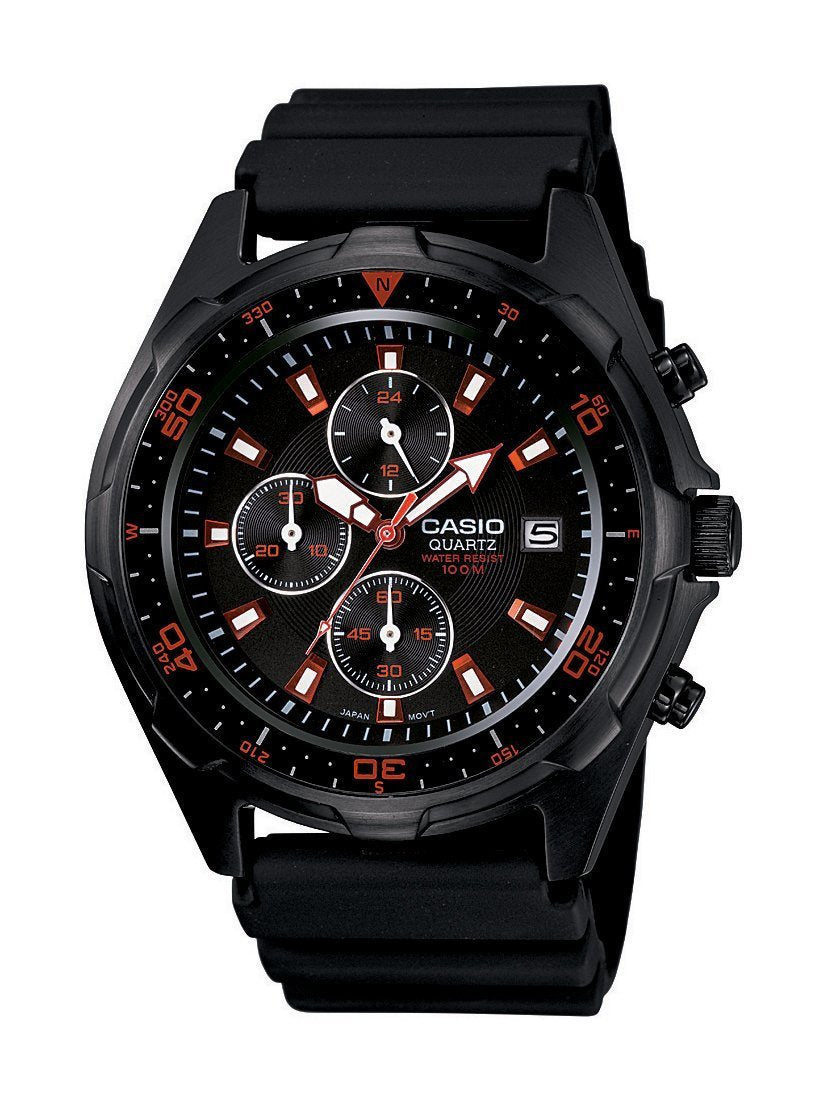 Casio Men's Black Analog Multi-Function Watch